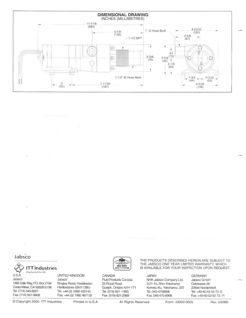 ... jabsco4.jpg (89719 bytes). This is the 4 page Manual that came with my Macerator  Pump.