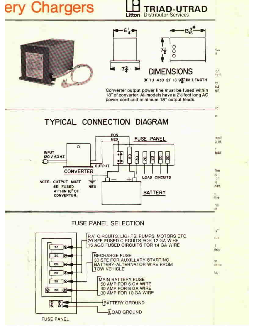 Manuals Motorhome Related Onan Inverter Charger Wiring Diagram Triad Utrad Converter Brochure